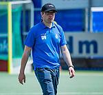 DEN HAAG -  manager David Voskamp (KZ)   tijdens  de eerste Play out wedstrijd hoofdklasse heren ,  HDM-HCKZ  (1-2) . COPYRIGHT KOEN SUYK