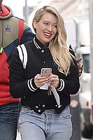 www.acepixs.com<br /> April 5, 2017 New York City<br /> <br /> Hilary Duff on the set of 'Younger' in New York City on April 5, 2017.<br /> <br /> Credit: Kristin Callahan/ACE Pictures<br /> <br /> Tel: 646 769 0430<br /> Email: info@acepixs.com