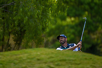 Sergio Garcia (ESP) watches his chip shot on 2 during Round 1 of the Zurich Classic of New Orl, TPC Louisiana, Avondale, Louisiana, USA. 4/26/2018.<br /> Picture: Golffile | Ken Murray<br /> <br /> <br /> All photo usage must carry mandatory copyright credit (&copy; Golffile | Ken Murray)