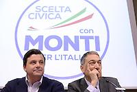Roma, 29 Gennaio 2013.Presentazione candidati di.Scelta Civica con Monti per l'Italia.Carlo Calenda,Mario Marazziti capolista Lazio 1