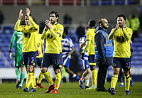 Blackburn Rovers' Jack Rodwell, Danny Graham and Bradley Dack applaud the fans at the end of the match <br /> <br /> Photographer Andrew Kearns/CameraSport<br /> <br /> The EFL Sky Bet Championship - Reading v Blackburn Rovers - Wednesday 13th February 2019 - Madejski Stadium - Reading<br /> <br /> World Copyright © 2019 CameraSport. All rights reserved. 43 Linden Ave. Countesthorpe. Leicester. England. LE8 5PG - Tel: +44 (0) 116 277 4147 - admin@camerasport.com - www.camerasport.com