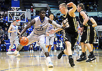 December 12, 2015 - Colorado Springs, Colorado, U.S. -  Air Force guard, Trevor Lyons #20, pulls up at the top of key during an NCAA basketball game between the Army West Point Black Knights and the Air Force Academy Falcons at Clune Arena, U.S. Air Force Academy, Colorado Springs, Colorado.  Army West Point defeats Air Force 90-80.