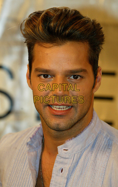 RICKY MARTIN.Ricky Martin PhotoCall at the Westin Hotel, Rotterdam, The Netherlands..April 19th, 2003.Ref: SH.headshot portrait.www.capitalpictures.com.sales@capitalpictures.com.©Capital Pictures