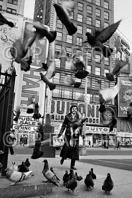 Manhattan, New York City, USA. January 1971. French Singer Joe Dassin in New York City.