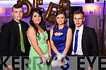 Jamie Maunsell, Victoria Cotter, Laura Lane and Adam Tees at the Castleisland Presentation debs ball at the Earl of Desmond hotel on Saturday night.