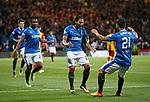 Carlos Peña celebrates his goal with Daniel Candeias