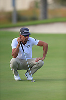 Rafa Cabrera Bello (ESP) on the 17th green during the 1st round of  the Saudi International powered by Softbank Investment Advisers, Royal Greens G&CC, King Abdullah Economic City,  Saudi Arabia. 30/01/2020<br /> Picture: Golffile | Fran Caffrey<br /> <br /> <br /> All photo usage must carry mandatory copyright credit (© Golffile | Fran Caffrey)