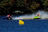 Frame 2: 24-J and 48-N  race into the turn, 48-N then catches the wake a spins out at speed. (runabout)