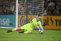 Orlando City, FL - Wednesday March 07, 2018: Karen Bardsley during a 2018 SheBelieves Cup match between the women's national teams of the United States (USA) and England (ENG) at Orlando City Stadium.