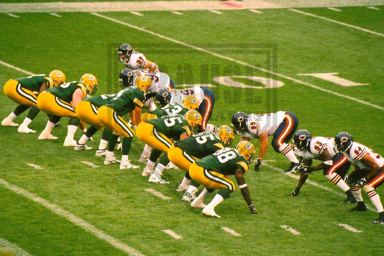 GREEN BAY - SEPTEMBER 2006: The Green Bay Packers take on the Chicago Bears during a game on September 10, 2006 at Lambeau Field in Green Bay, Wisconsin. (Photo by Brad Krause)
