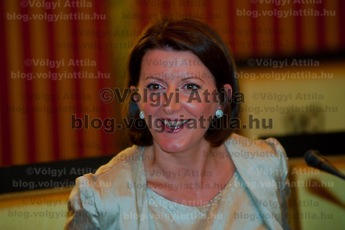 Atifete Jahjaga president of the Republic of Kosovo on an official visit in Budapest, Hungary on September 14, 2011. ATTILA VOLGYI