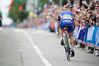 Peter Sagan (SVK/Tinkoff-Saxo) on his way to becoming the 2015 Road World Champion<br /> <br /> Elite Men Road Race<br /> UCI Road World Championships Richmond 2015 / USA