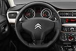 Car pictures of steering wheel view of a 2016 Citroen C-Elysee Confort 4 Door Sedan Steering Wheel