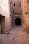 Mud walls of former Jewish quarter now abandoned, Tinerhir, Morocco, north Africa