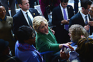 Baltimore, MD - April 10, 2016: Former Secretary of State and 2016 Democratic presidential candidate Hilary Clinton greets supporters during a campaign event at the City Garage in Baltimore, MD, April 10, 2016.  (Photo by Don Baxter/Media Images International)