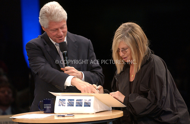 WWW.ACEPIXS.COM . . . . . ....September 22, 2006, New York City. ....Bill Clinton and Barbra Streisand attend the Clinton Global Initiative Annual Meeting Day 2.....Please byline: KRISTIN CALLAHAN - ACEPIXS.COM.. . . . . . ..Ace Pictures, Inc:  ..(212) 243-8787 or (646) 769 0430..e-mail: info@acepixs.com..web: http://www.acepixs.com