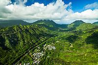 Likelike Highway through the Ko'olau Mountains, O'ahu.