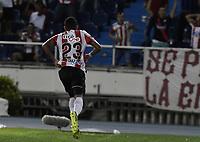 BARRANQUIILLA - COLOMBIA, 19-09-2017: Luis Diaz Marulanda del Atlético Junior de Colombia celebra después de anotar un gol a Cerro Porteño de Paraguay durante partido de vuelta por los octavos de final, llave 5, de la Copa CONMEBOL Sudamericana 2017  jugado en el estadio Metropolitano Roberto Meléndez de la ciudad de Barranquilla. / Luis Diaz Marulanda player of Atlético Junior of Colombia celebrates after scoring a goal to Cerro Porteño of Paraguay during second leg match for the eight finals, key 5, of the Copa CONMEBOL Sudamericana 2017played at Metropolitano Roberto Melendez stadium in Barranquilla city.  Photo: VizzorImage / Gabriel Aponte / Staff