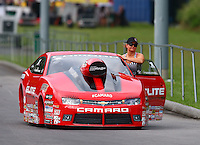 Jun 20, 2015; Bristol, TN, USA; NHRA pro stock driver Erica Enders-Stevens during qualifying for the Thunder Valley Nationals at Bristol Dragway. Mandatory Credit: Mark J. Rebilas-USA TODAY Sports