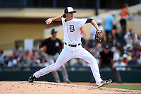 Detroit Tigers pitcher Zac Reininger (79) during a Spring Training game against the Miami Marlins on March 25, 2015 at Joker Marchant Stadium in Lakeland, Florida.  Detroit defeated Miami 8-4.  (Mike Janes/Four Seam Images)