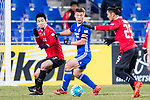 Ulsan Hyundai Forward Lee Jongho (C) in action during the AFC Champions League 2017 Group E match between  Ulsan Hyundai FC (KOR) vs Muangthong United (THA) at the Ulsan Munsu Football Stadium on 14 March 2017 in Ulsan, South Korea. Photo by Chung Yan Man / Power Sport Images