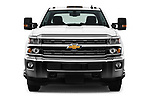 Car photography straight front view of a 2017 Chevrolet Silverado-3500HD LT-Crew-DRW 4 Door Pickup Front View