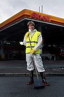 Amnesty campaign against Shell. Secretary General for Amnesty International Norge (Norway) John Peder Egenæs.© Fredrik Naumann/Felix Features