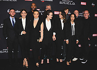 "HOLLYWOOD - FEBRUARY 24:  Iain De Caestecker, Natalia Cordova-Buckley, Henry Simmons, Ming-Na Wen, Elizabeth Henstridge, Jeffrey Bell, Chloe Bennet, Jed Whedon, Maurissa Tancharoen, Jeph Loeb and Clark Gregg at 100th Episode Celebration of ABC's ""Marvel's Agents of S.H.I.E.L.D.""  at OHM Nightclub on February 24, 2018 in Hollywood, California.(Photo by Scott Kirkland/PictureGroup)"