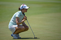 Beatriz Recari (ESP) lines up her putt on 18 during round 2 of the 2018 KPMG Women's PGA Championship, Kemper Lakes Golf Club, at Kildeer, Illinois, USA. 6/29/2018.<br /> Picture: Golffile | Ken Murray<br /> <br /> All photo usage must carry mandatory copyright credit (© Golffile | Ken Murray)