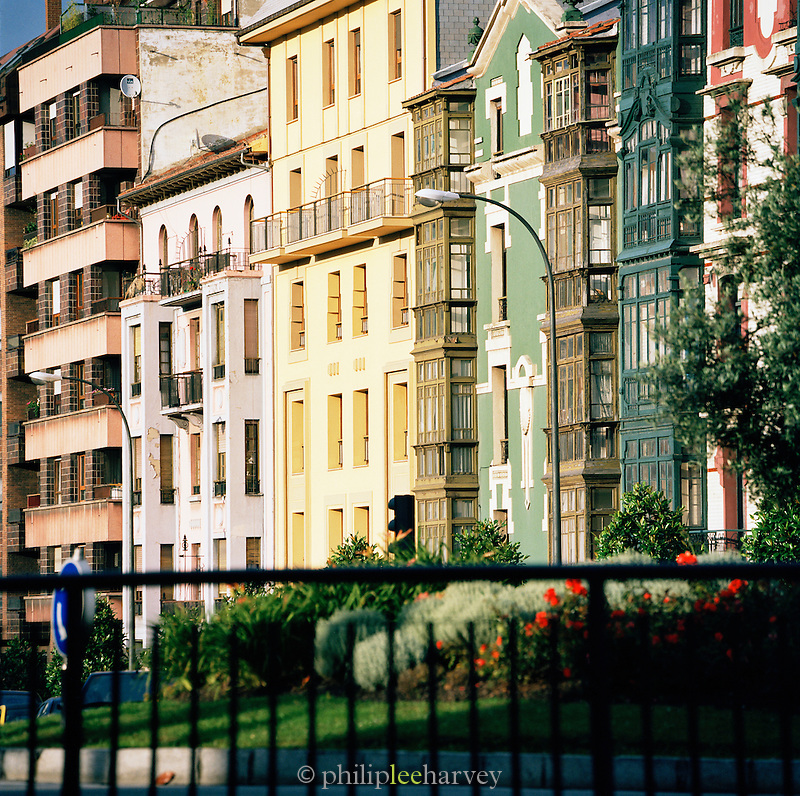 Apartment buildings in Oviedo, Asturias, Spain