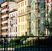 Apartment buildings in Oviedo, Asturias, Spain
