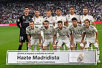 Real Madrid team group during the match between Real Madrid v Atletico Madrid of LaLiga, date 7, 2018-2019 season. Santiago Bernabéu Stadium. Madrid, Spain - 29 SEP 2018.