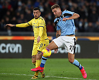 Football, Serie A: S.S. Lazio - Hellas Verona, Olympic stadium, Rome, February 5, 2020.<br /> Lazio's Sergej Milinkovic-Savic (r) in action with Hellas Verona's Mattia Zaccagni (l) during the Italian Serie A football match between S.S. Lazio and Hellas Verona at Rome's Olympic stadium, Rome, on February 5, 2020. <br /> UPDATE IMAGES PRESS/Isabella Bonotto