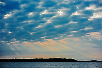 Storm clouds  on Lake of the Woods<br />