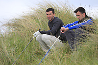 Darragh Crawford (Bundoran) and Jamie Sutherland (Galgorm Castle) waiting at the 16th tee during Round 2 of The East of Ireland Amateur Open Championship in Co. Louth Golf Club, Baltray on Sunday 2nd June 2019.<br /> <br /> Picture:  Thos Caffrey / www.golffile.ie<br /> <br /> All photos usage must carry mandatory copyright credit (© Golffile | Thos Caffrey)