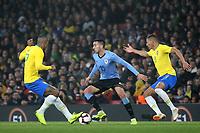 Matias Vecino of Uruguay in action during Brazil vs Uruguay, International Friendly Match Football at the Emirates Stadium on 16th November 2018