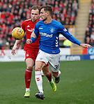 03.03.2019 Aberdeen v Rangers: Borna Barisic and Greg Stewart