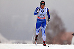 Krista Lahteenmaki in action during the Women 5 km Classic Individual in Val Di Fiemme<br /> <br /> &copy; Pierre Teyssot