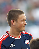 New England Revolution midfielder Kelyn Rowe (11). In a Major League Soccer (MLS) match, New England Revolution defeated New York Red Bulls, 2-0, at Gillette Stadium on July 8, 2012.