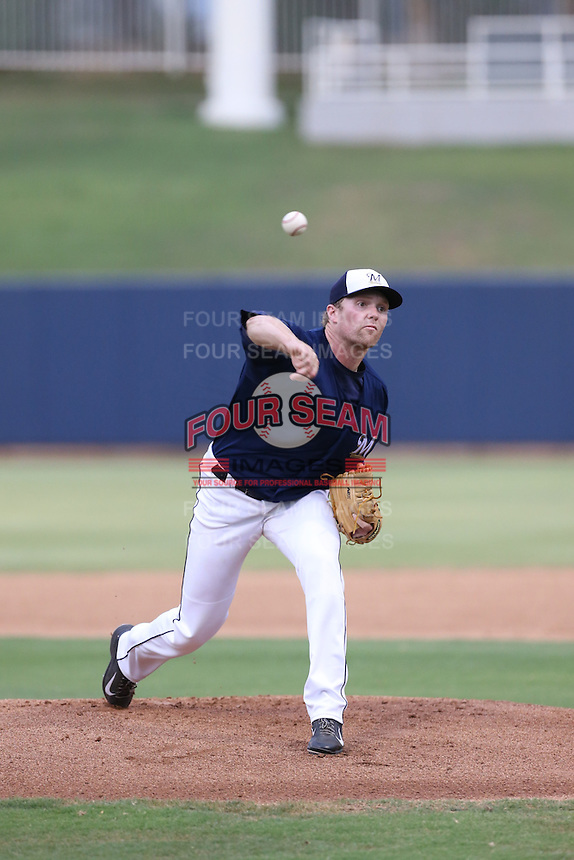 Caleb Smith (38) of the AZL Brewers pitchings during a game against the AZL Athletics at Maryvale Baseball Park on June 30, 2015 in Phoenix, Arizona. Brewers defeated Athletics, 4-2. (Larry Goren/Four Seam Images)