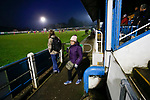 A Stocksbridge fan leaves before full time. Stocksbridge Park Steels v Pickering Town, Evo-Stik East Division, 17th November 2018. Stocksbridge Park Steels were born from the works team of the local British Steel plant that dominates the town north of Sheffield.<br />