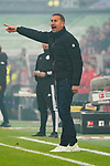 03.11.2019, Merkur Spielarena, Duesseldorf , GER, 1. FBL,  Fortuna Duesseldorf vs. 1. FC Koeln,<br />  <br /> DFL regulations prohibit any use of photographs as image sequences and/or quasi-video<br /> <br /> im Bild / picture shows: <br /> Achim Beierlorzer Trainer, Headcoach (1.FC Koeln), regt sich heftig auf, Gestik, Mimik,   <br /> <br /> Foto © nordphoto / Meuter