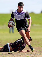 Papatoetoe v Haeata Community Campus. Secondary Schools Rugby League Nationals, Bruce Pulman Park, Papakura, Auckland, New Zealand. Monday 4 September. Photo: Simon Watts/www.bwmedia.co.nz
