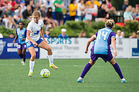 Allston, MA - Sunday July 31, 2016: Louise Schillgard, Becky Edwards during a regular season National Women's Soccer League (NWSL) match between the Boston Breakers and the Orlando Pride at Jordan Field.