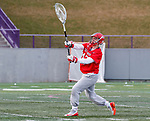 UAlbany Men's Lacrosse defeats Stony Brook on March 31 at Casey Stadium.  Stony Brook goalkeeper Michael Bollinger (#47).