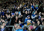 Everton fans rejoice on hearing rivals Liverpool have been knocked out of the competition - UEFA Europa League Round of 32 Second Leg - Everton vs Young Boys - Goodison Park Stadium - Liverpool - England - 26th February 2015 - Picture Simon Bellis/Sportimage