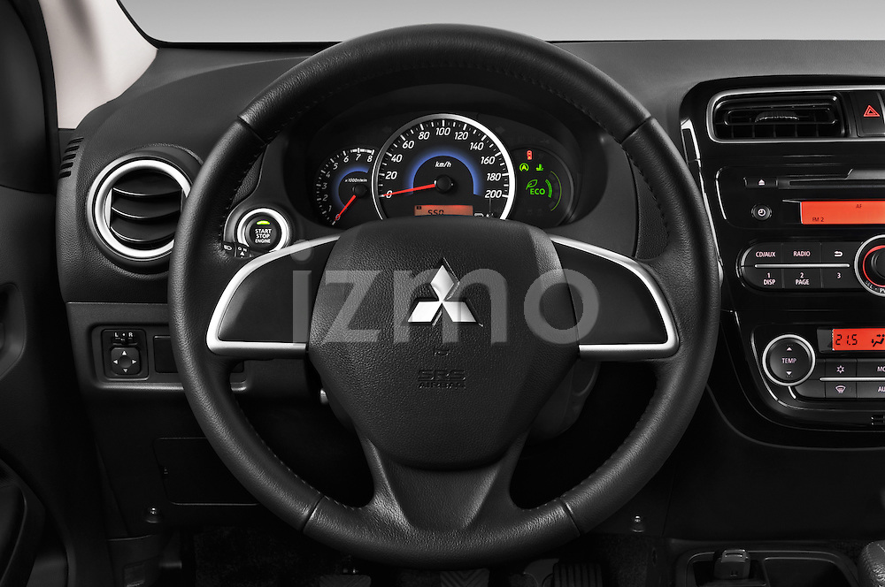 Steering wheel view of a 2014 Mitsubishi SPACE STAR 5 Door Hatchback 2WD