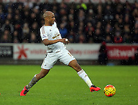 Andre Ayew of Swansea during the Barclays Premier League match between Swansea City and Crystal Palace at the Liberty Stadium, Swansea on February 06 2016