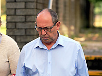 Pictured: Robert Davies Hughes outside Llanelli Magistrates Court. Thursday 15 June 2017<br />