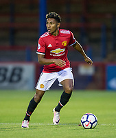 Demi 'Demetri' Mitchell of Manchester United during the U23 Premier League 2 match between Chelsea and Manchester United at the EBB Stadium, Aldershot, England on 18 September 2017. Photo by Andy Rowland.